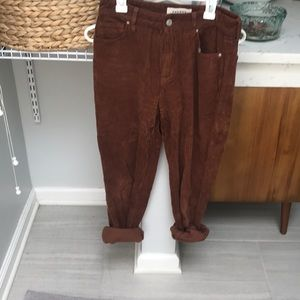 Corduroy rust colored pants